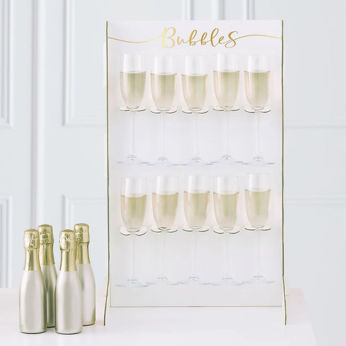 Gold Prosecco Wall Holder