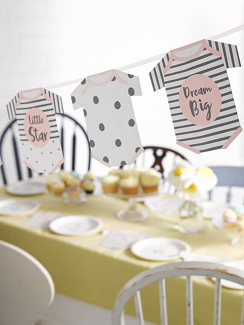 Pink Baby Grow Bunting