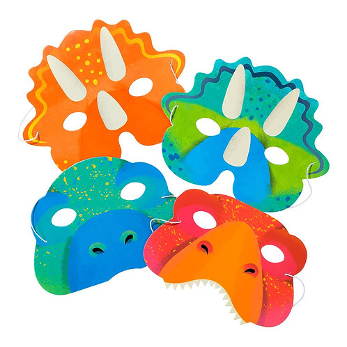 Dinosaur Party Masks