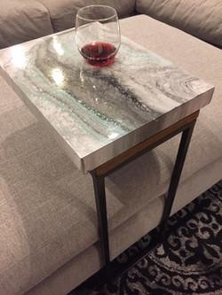 Resin & Acrylic side table