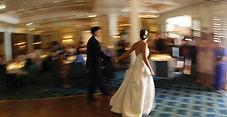 bride and grrom on dance floor
