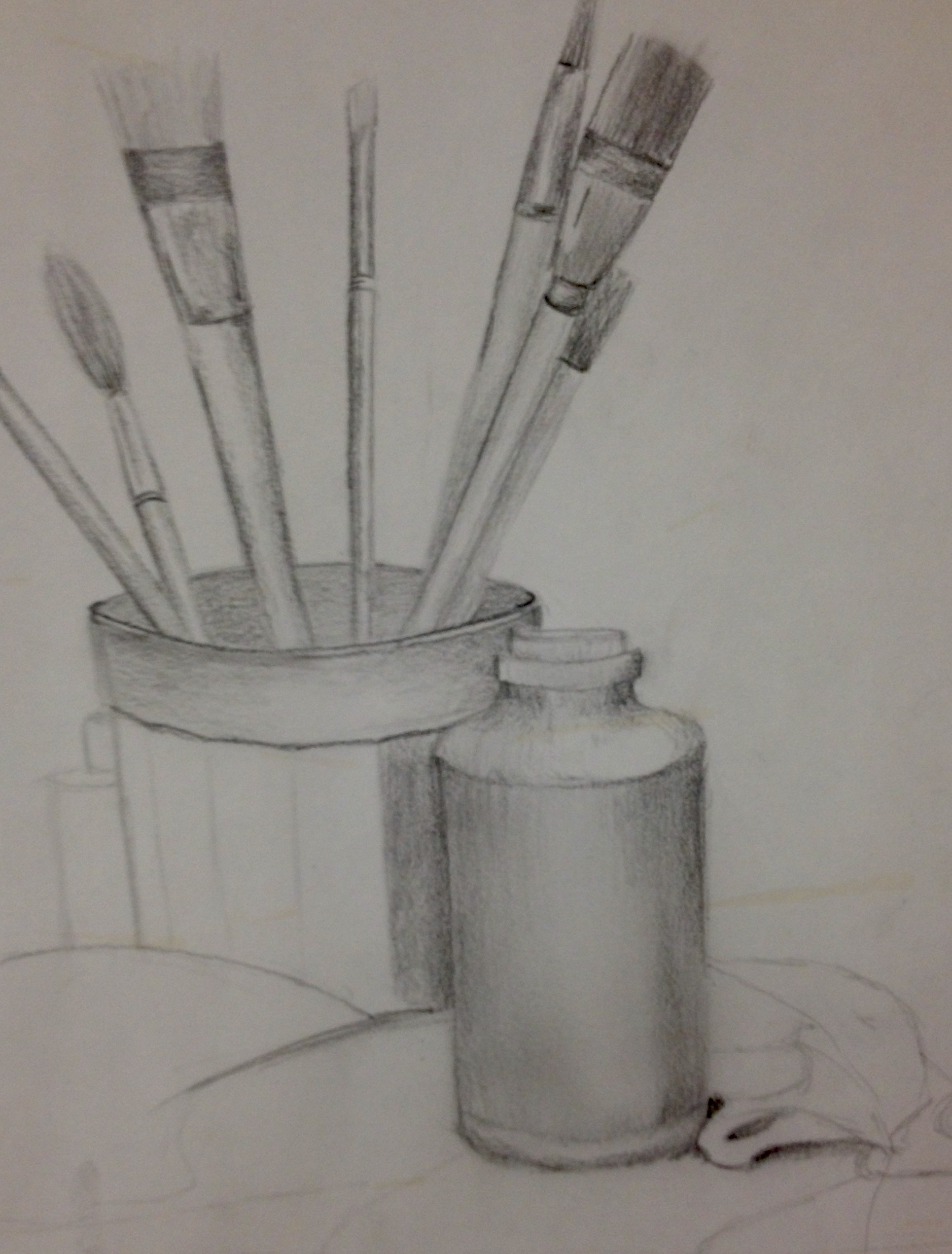 Still life of my brushes