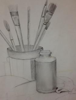 Still life of my brushes