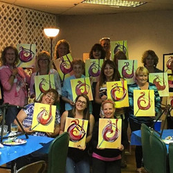 Pour more wine paint party