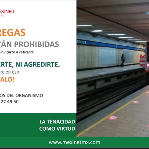 """LAS ENTREGAS EN EL METRO """"NO SON ILEGALES"""""""