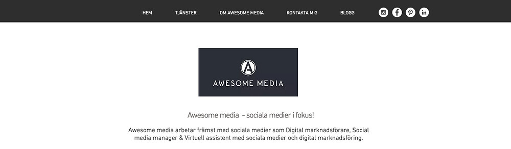 Hemsida Awesome media