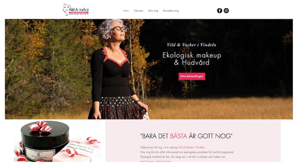 Vild & Vacker hemsida