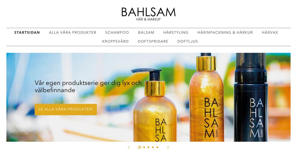 Bahlsam webshop - Shopify