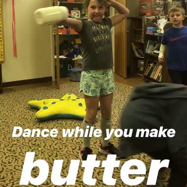 I am still amazed that we made butter ye