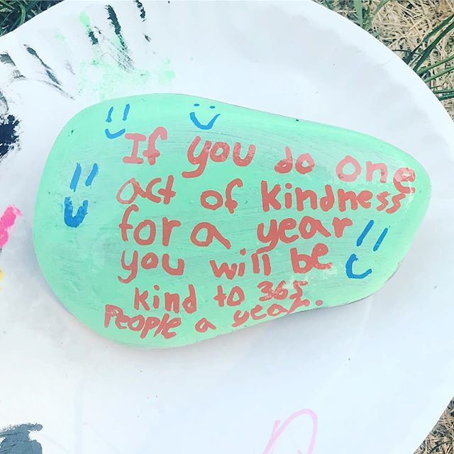 Love this kindness rock one of the kiddo