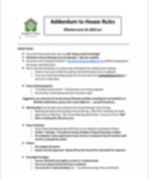 Addendum to House Rules