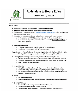 Addendum to House Rules