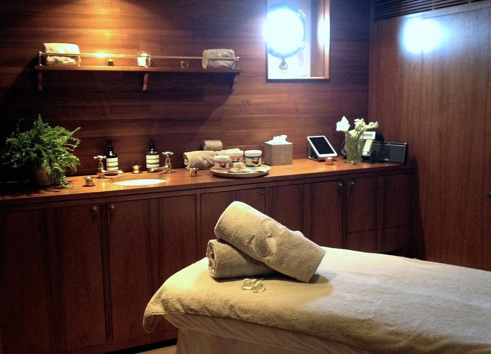 Spa room on yacht