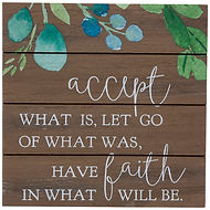 Wall Decor - Accept what Is