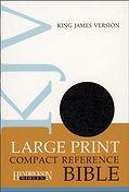 BIBLE - KJV Large Print COMPACT Black