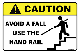 Bay Alarm - Caution use hand rail.png