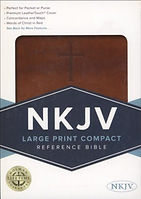 NKJV Large Print Brown with Cross on cover