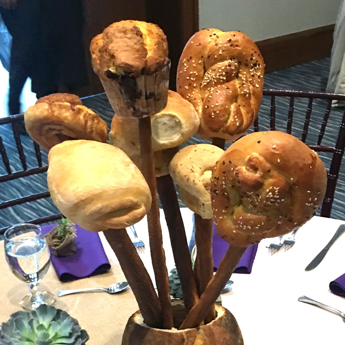 Custom Bread Centerpieces