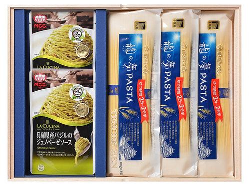 龍の夢PASTAと地元産バジルのパスタソースセット/PST-30/