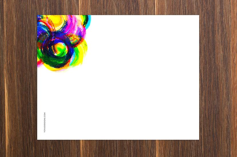 Neon Circles Notepad 8.5x11