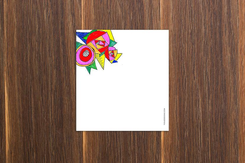 Neon Art Deco Notepad 5.5x6