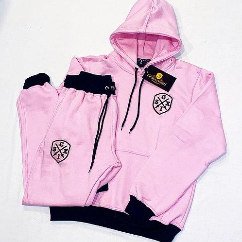 G6 Unisex BubbleGum Pink/Black Trackset