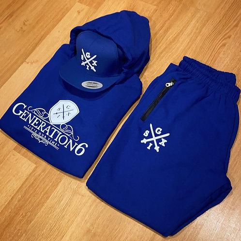Royal Blue&White G6 Jumpsuit + SnapBack