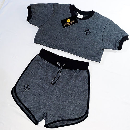 G6 Ladies Crop Top + High Waisted shorts