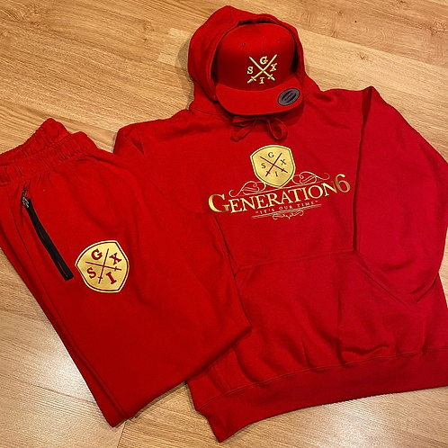 G6 Red&Gold JumpSuit + Snapback