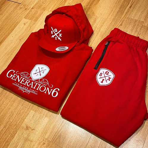 Red&White G6 Jumpsuit + Snapback