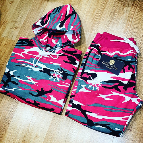 G6 Limited Edition Pink Camo Tracksuit