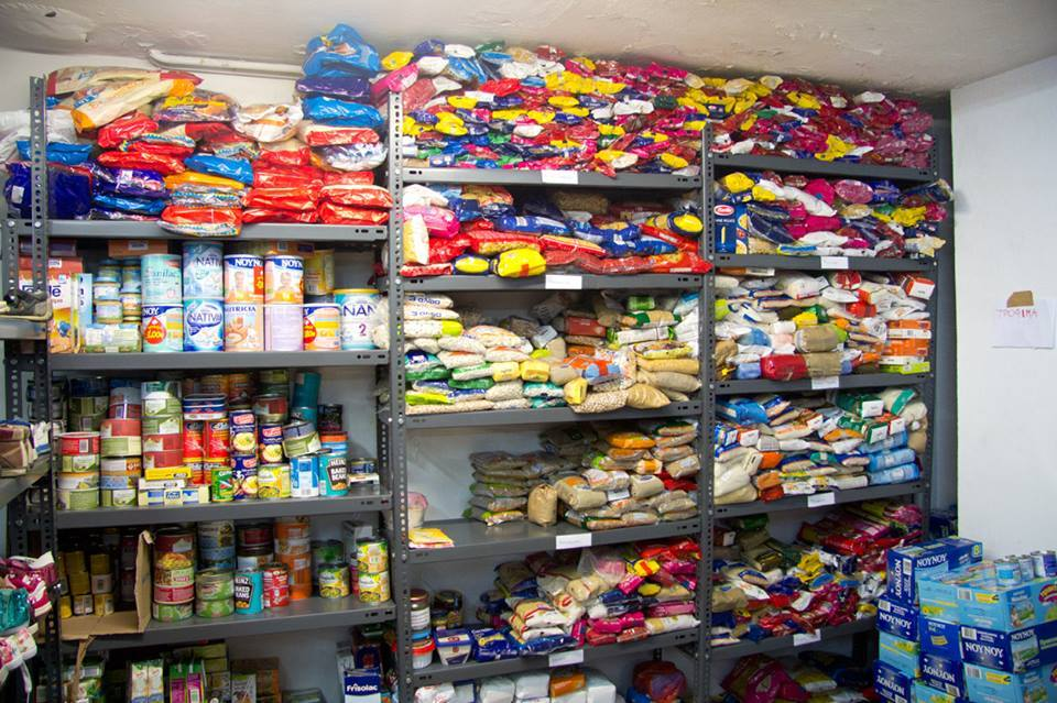 Collected food storage place