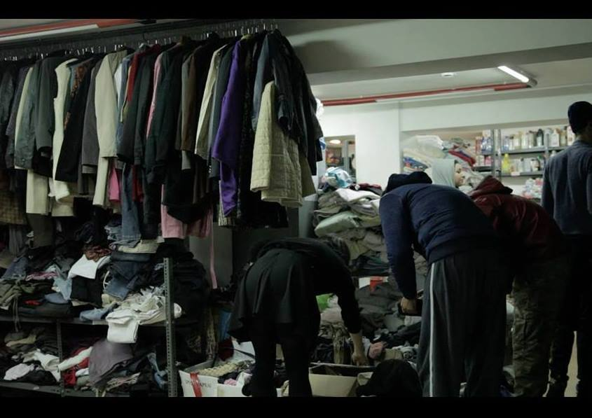 Collection of clothes for immigrants and refugees