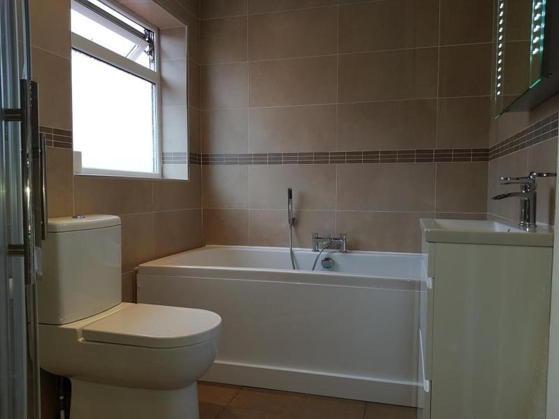 warm looking bathroom