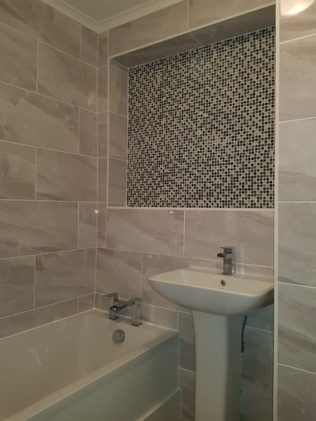bathroom with blinds