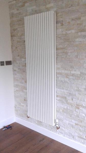 tall white radiator