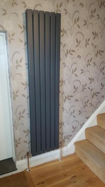 modern grey radiator