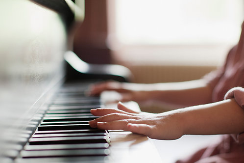 Weekly Piano Lessons (30 min lesson x 4/ mo)