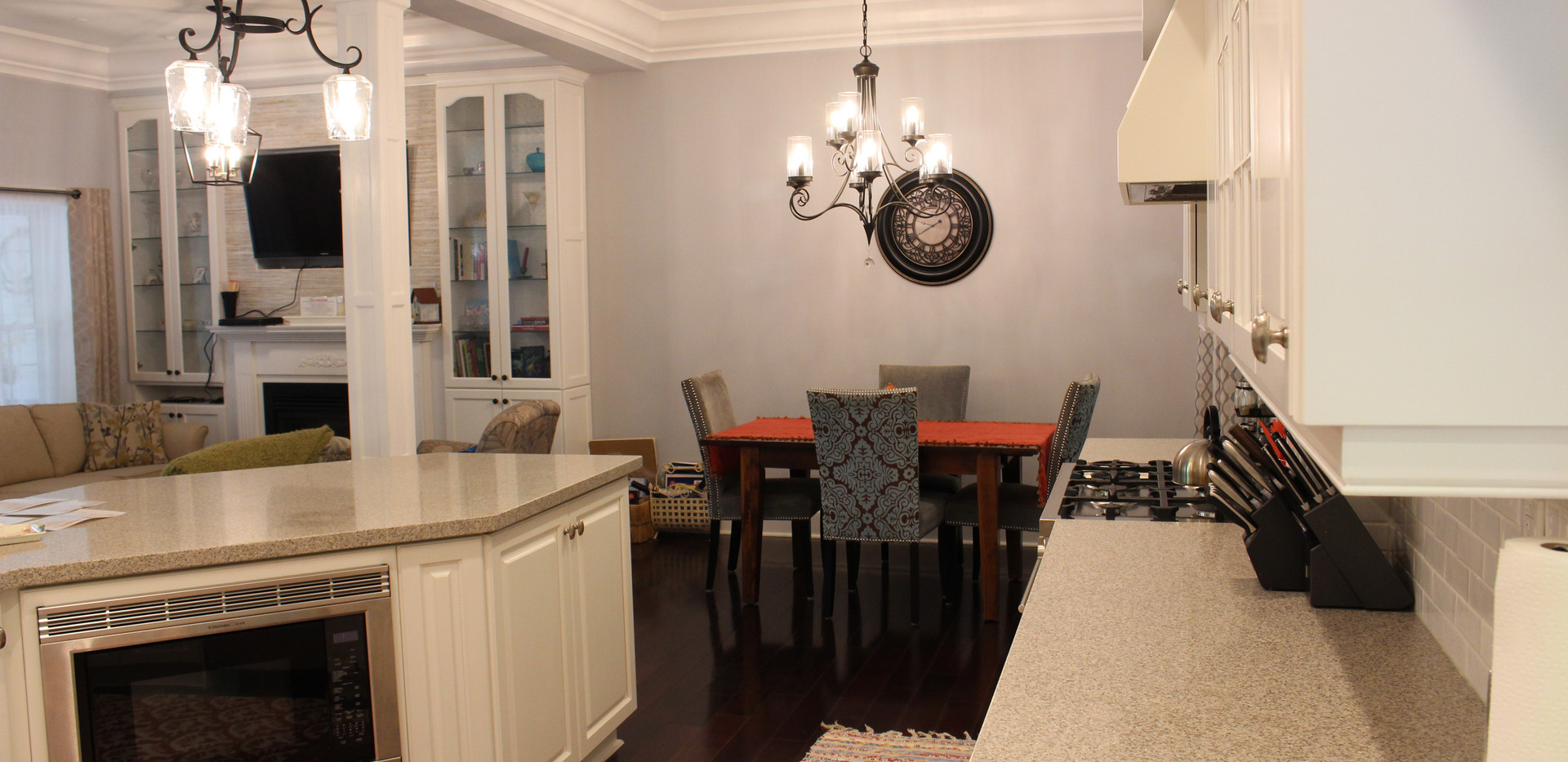 Kitchen View with Dinning Area