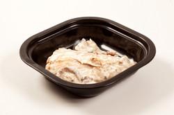 Salmón con salsa de setas