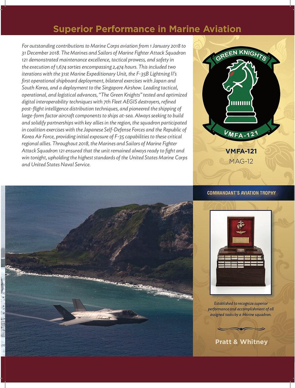 2019 Commandan'ts Aviation Award