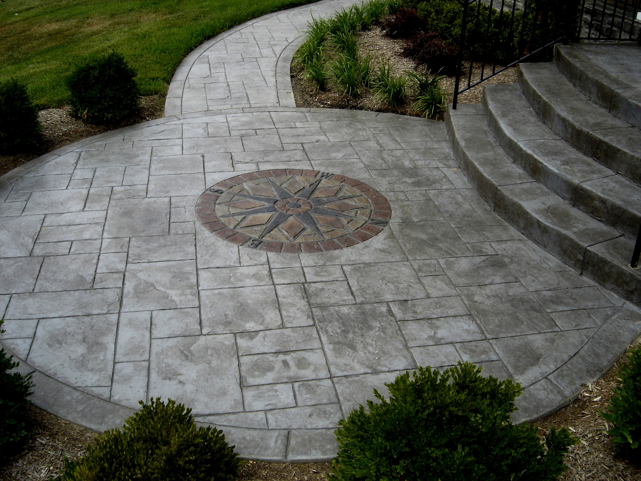 stamped concrete design by greystone