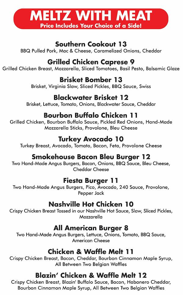 Gourmeltz menu