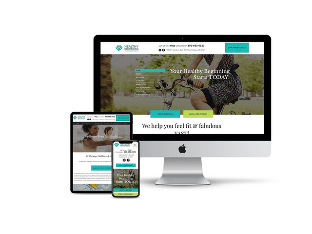 Website Design for Wellness Center