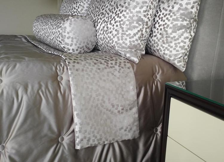 Custom Comforter, Bolster, Shams and Bed Runner