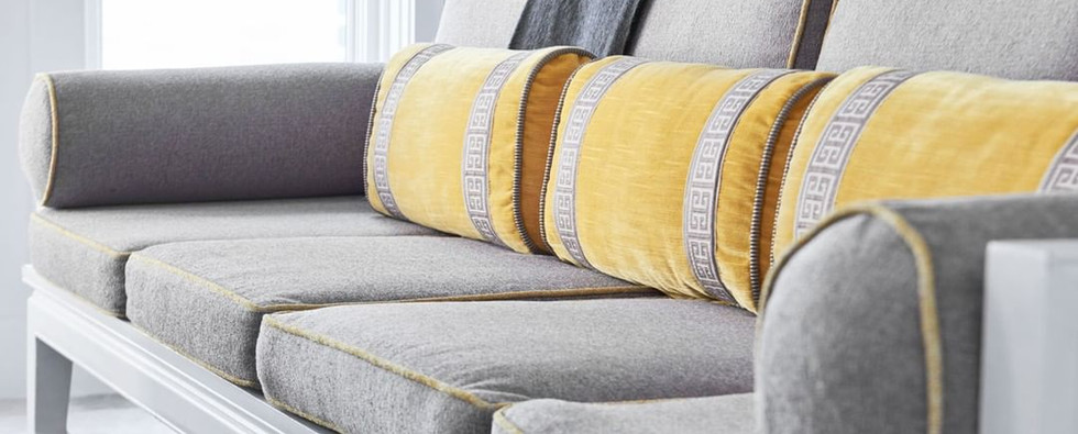 Accent Pillows with a Designer Trim