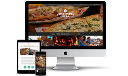 Brick House Pizza Web design for wood-fired pizza restaurant in Radf...