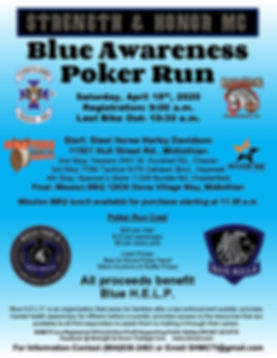 SHMC Blue Awareness Poker Run 2020