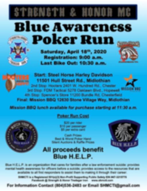 SHMC Blue Awareness Poker Run 2020