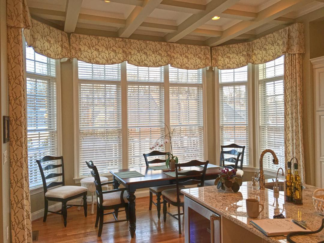Valances for a Kitchen Window with Drapery Side Panels